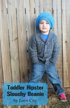 Love City: crochet love {toddler hipster slouchy beanie}