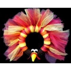 Thanksgiving Turkey Tulle Wreath
