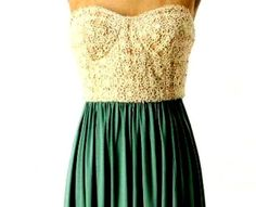 Bridesmaids in green skirts with this top... maybe a chic white button down...