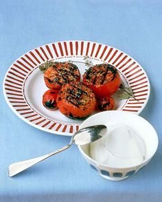 Grilled Tomatoes with Yogurt Recipe