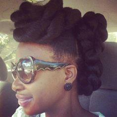 naturalhairdaily: Now that's a fierce updo @naturalhairdontcare! #naturalhair #teamnatural #nhd (Taken with Instagram)