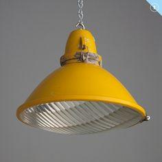 Yellow industrial pendant
