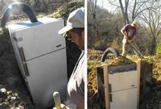 root cellar .. a wonderful efficient way to use that old refrigerator