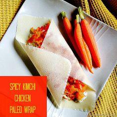 paleo kimchi chicken wrap