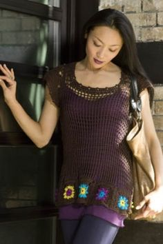 Buenos Aires Crochet Tunic - Free Crochet Pattern - (tahkistacycharles)