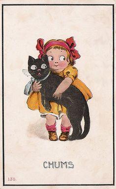 google eyed girl & cat
