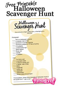 scavenger hunts, scaveng hunt, older kid