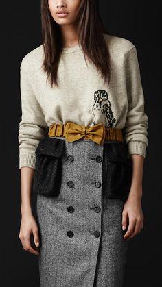 Bird Detail Cashmere Sweater | Burberry