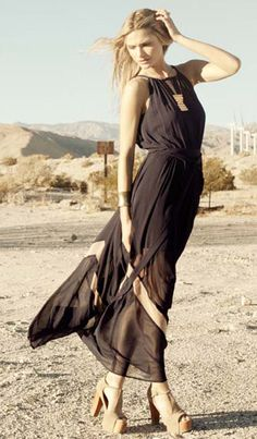 Zig Zag Sheer Maxi Dress