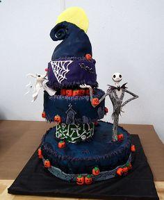 Nightmare before christmas cake.