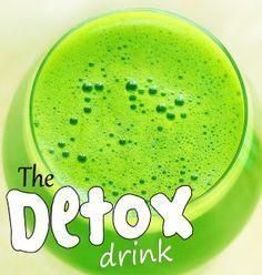 Detox Drink - Green Lemonade... no added sugar!