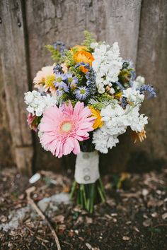 cheery bouquet, photo by Q Avenue Photo http://ruffledblog.com/travellers-rest-nashville-wedding #weddingbouquet #flowers