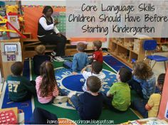Core Language Skills Children Should Have Before Starting Kindergarten (from Playing With Words 365)