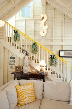 Christmas at the beach.. eclectic staircase by Janet Paik