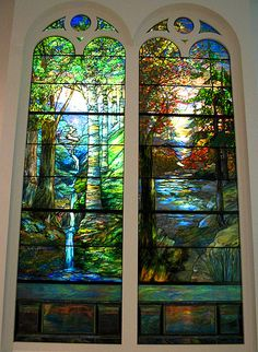 Dual Paneled Stained Glass.