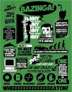 The Big Bang Theory geek, big bang, sheldon, bang theori, penni, poster, bangs, knock knock, quot