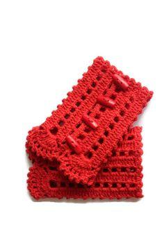 Stylish Handmade Cuff - Crocheted Lace Cuffs - Bracelet  -Romantic Gloves