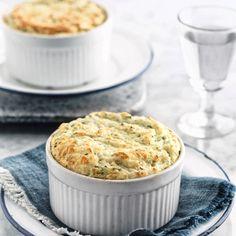 Easy cheesy cauliflower souffles