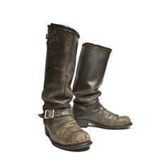 vintag boot, biker boots
