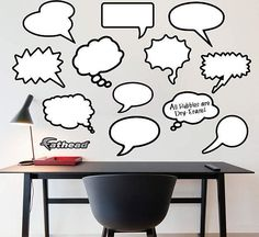 dry erase thought bubbles for the creative mind - love this