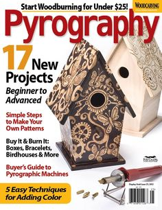 Check out Woodcarving Illustrated's newest special interest publication on pyrography!