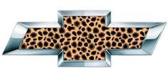 Leopard Print Chevy Bowtie Emblem Decals