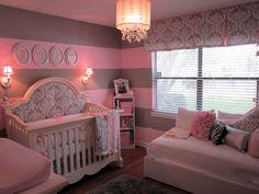 Beautiful baby girl's room.