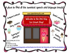The One-Stop Ice Cream Shop! {Language & Auditory Processi