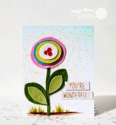felt project, waffl flower, flower blog