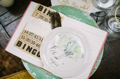 anthro plate + vintage bingo