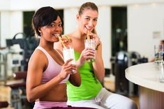 Which type of shake to drink before and after a workout; and other helpful food info.