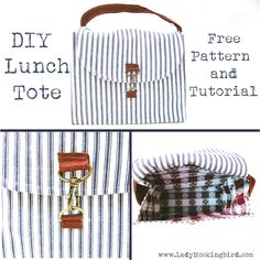Lady Mockingbird and her Buttercups: #Tutorials || DIY Rustic Lunch Tote