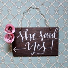 """Bridal Shower """"she Said Yes!"""" Directional Sign Engagement… - Bridal Shower """"she Said Yes!"""" Directional Sign Engagement Party"""