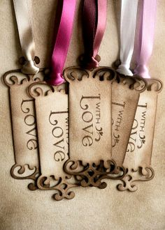 #DIY #crafts #Valentine's Day #giftwrapping ideas ToniK ⓦⓡⓐⓟ ⓘⓣ ⓤⓟ #vintage look #tags www.etsy.com/listing/68358853/with-love-tags-vintage-look-choice-of