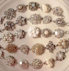 Vintage earring bracelets.