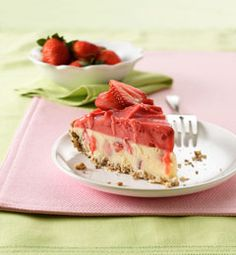 Frozen Strawberry Cheesecake #recipes #food