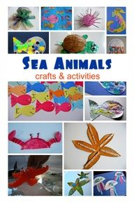 Ocean Animal Crafts For Kids