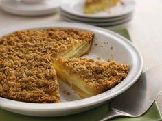 Impossibly Easy Pear-Custard Pie