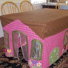 Tablecloth playhouse. Awesome!