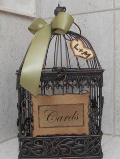 Wedding Card Box Birdcage