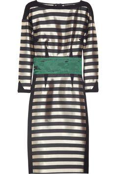 Sonia Rykiel Striped satin-twill dress