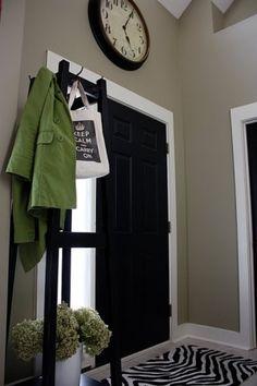 Black door - Martha Stewart - Silhouette on the doors