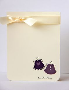 little dresses made using stampin' up! owl punch
