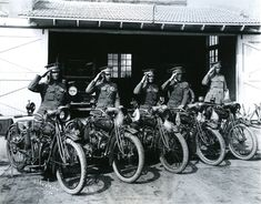 Waco motorcycle police. 1918