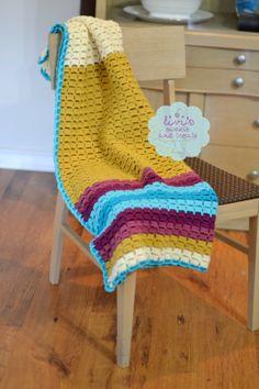 pretty crocheted blanket