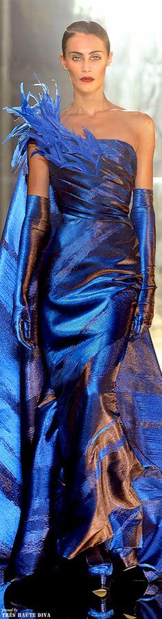 fashion, georg chakra, style, blue, dress, chakra coutur, gown, azul, georges chakra