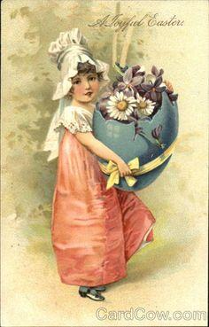 . vintag postcard, easter card, vintag 23, vintag easter, easter postcard