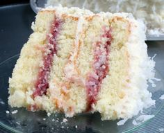 Coconut Cake with RaspberryFilling
