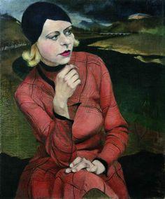 Kurt Eichler - Mädchen im karierten Kleid - 1930