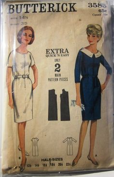Butterick pattern from the 1960's